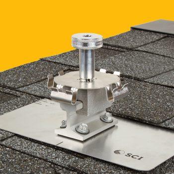 Asphalt Shingle PowerMount with Solar Connections Kit